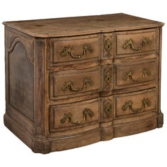 18th Century Fruitwood Bombe Commode, Decorative Escutcheons and Side Panels