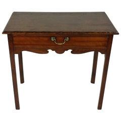 18th Century Fruitwood Single Drawer Lowboy