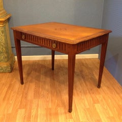 18th Century Fruitwood Writing Table with Leather Top