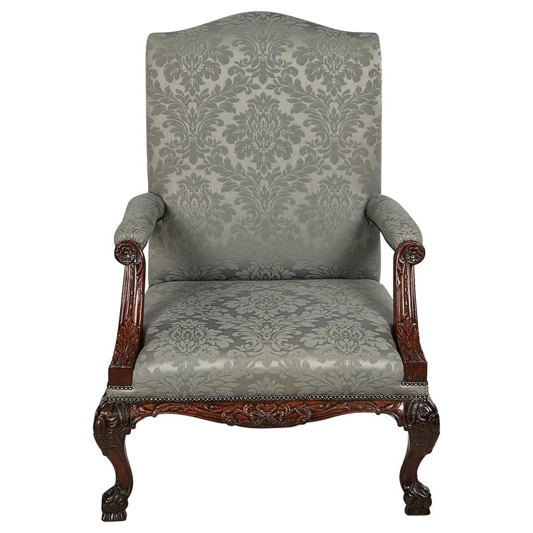 18th Century Gainsborough Armchair after Chippendale