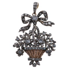 18th Century Gairdinetti Flower Basket Pendant