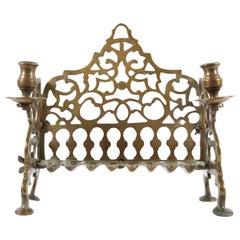 18th Century Galician Brass Hanukkah Lamp Menorah