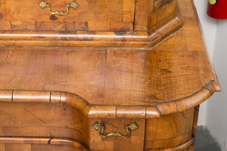 18th Century George I Burled Walnut Double-Dome Cabinet For Sale 7