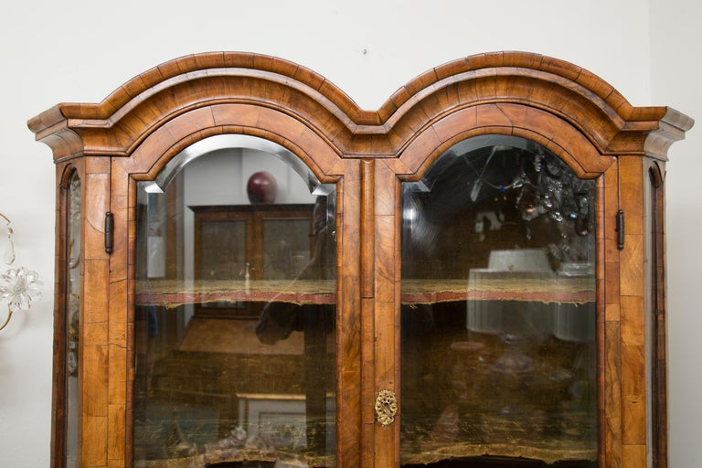 18th Century George I Burled Walnut Double-Dome Cabinet For Sale 9