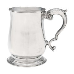 18th Century George II Antique Sterling Silver Mug from 1748 by Fuller White