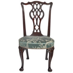18th Century George II Carved Mahogany Side Chair