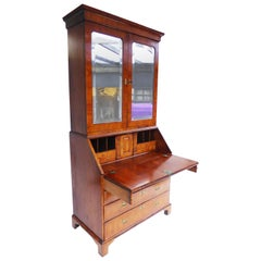 18th Century George II Figured Walnut Secretary Bookcase