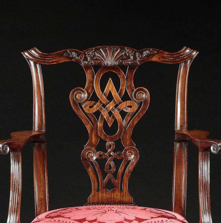 18th Century George II Irish Mahogany Armchair In Good Condition For Sale In London, GB