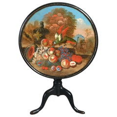 18th Century George II Painted Tripod Table