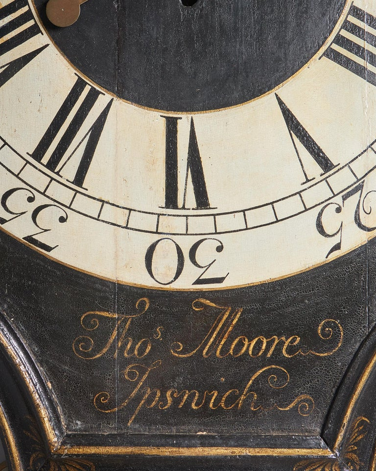 Oak 18th Century George II Tavern or Act of Parliament Clock, Circa 1740 For Sale