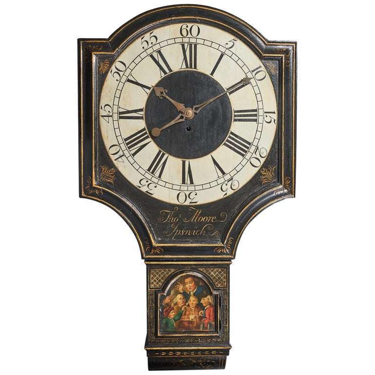 18th Century George II Tavern or Act of Parliament Clock, Circa 1740 For Sale