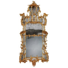 18th Century George III Carved Mirror in the Manner of Thomas Johnson