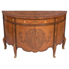 18th Century George III English Satinwood Commode Attributed to Ince & Mayhew