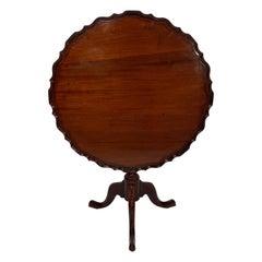 18th Century George III English Tilt Top Mahogany Table
