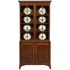 18th Century George III Hepplewhite Period Mahogany Two Door Display Cabinet