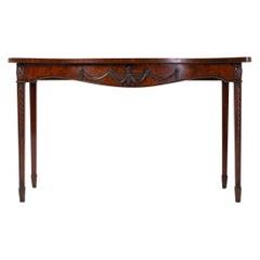 18th Century George III Mahogany 'Adam Style' Serpentine Side Table