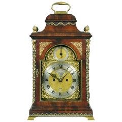 18th Century George III Mahogany and Brass Bracket Clock by John Turner, London