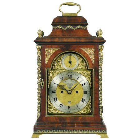 18th Century Antique Mahogany and Brass Bracket Clock by John Turner of London