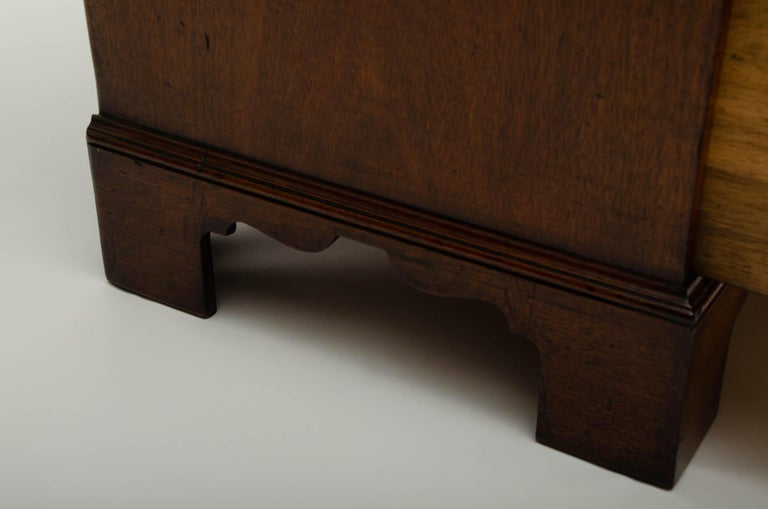 18th Century George III Mahogany and Satinwood Chest of Drawers, England For Sale 5