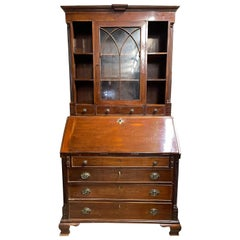 18th Century George III Mahogany Bookcase Secretary, Georgian, 1780s