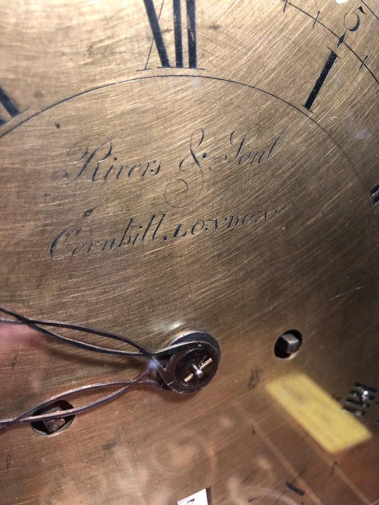 18th Century George III Mahogany Bracket Clock, 1780s For Sale 6