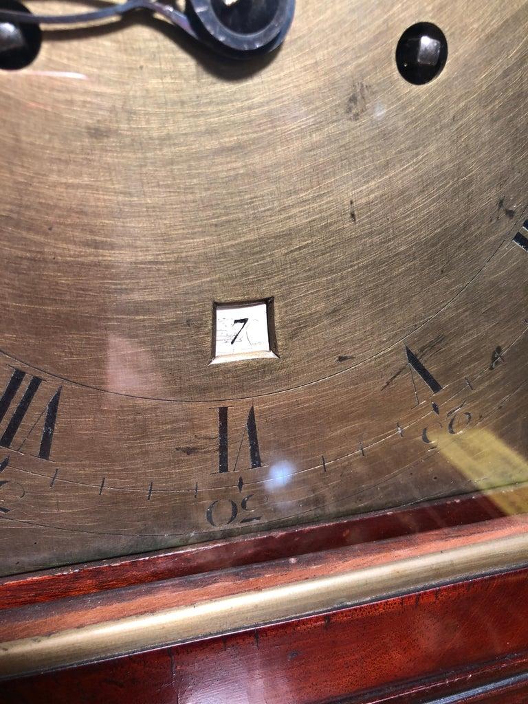 18th Century George III Mahogany Bracket Clock, 1780s For Sale 7