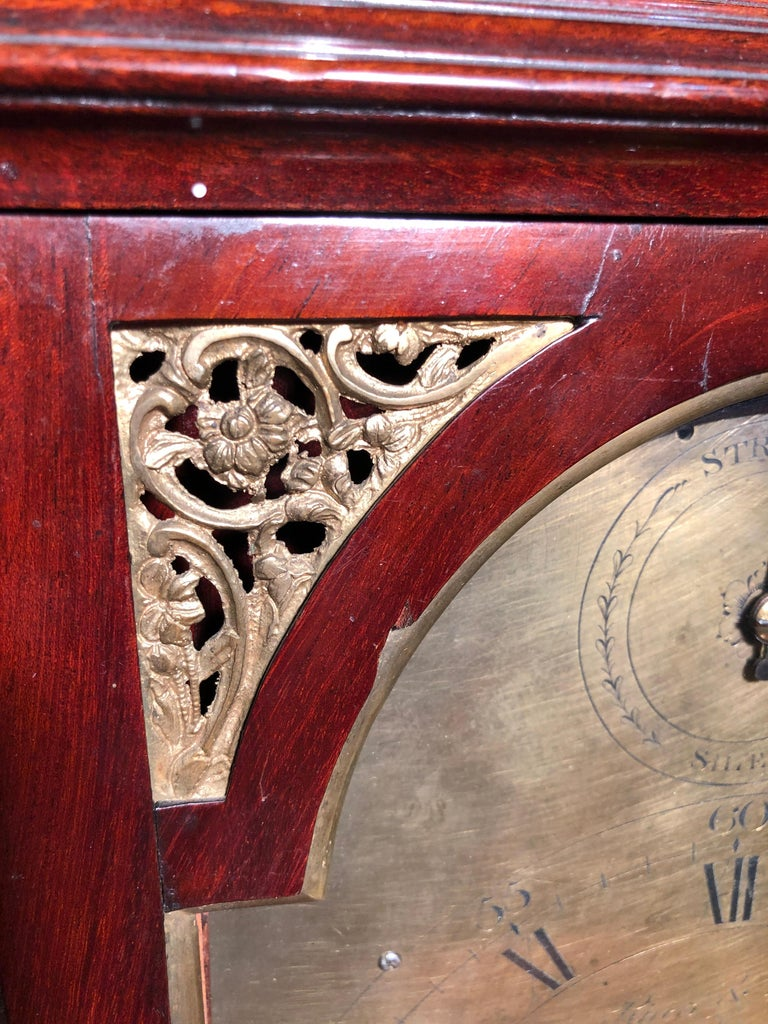 18th Century George III Mahogany Bracket Clock, 1780s For Sale 8