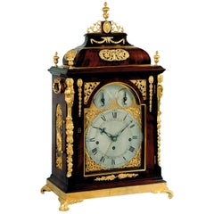 18th Century George III Mahogany Musical Bracket Clock by John Taylor of London