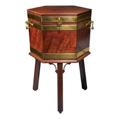 18th Century George III Mahogany Wine Cooler or Cellarette