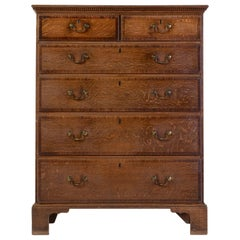 18th Century George III Oak Chest of Drawers
