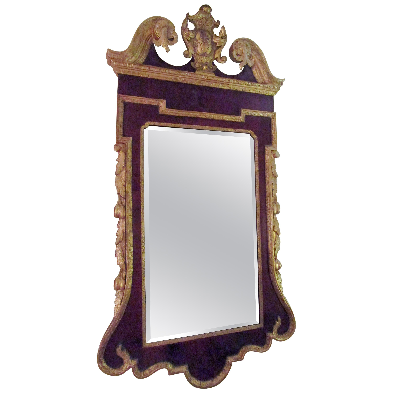 18th Century George III Parcel-Gilt Mahogany Mirror
