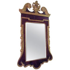 18th Century George III Parcel-Gilt Mahogany Mirror