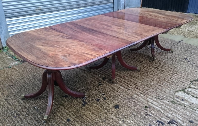 18th Century George III Period Mahogany Antique Dining Table In Good Condition For Sale In Gloucestershire, GB
