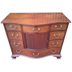 18th Century George III Period Mahogany Antique Serpentine Chest of Drawers