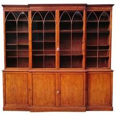 18th Century George III Period Mahogany Breakfront Bookcase