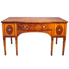 18th century George III period mahogany sideboard attributed to John Linnell