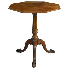 18th Century George III Period Thomas Chippendale Style Mahogany Tripod Table