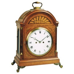 18th Century George III Satinwood Bracket Clock, Thomas Wright, Poultry, London