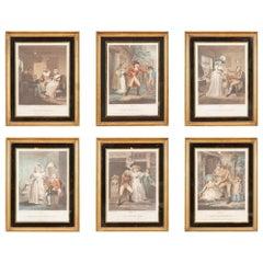 18th Century George III Set of Six Mezzotints Depicting Lucretia