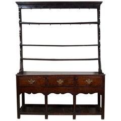 18th Century George III Small Oak Cottage Dresser