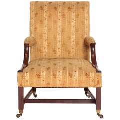 "18th Century George III Upholstered ""Gainsborough"" Library Chair"