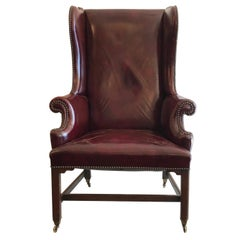 18th Century Georgian Chippendale Wing Chair