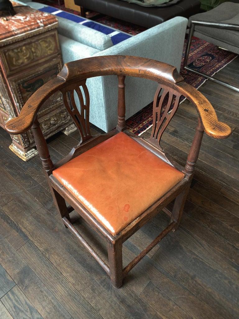 18th Century and Earlier 18th Century Georgian Corner Chair