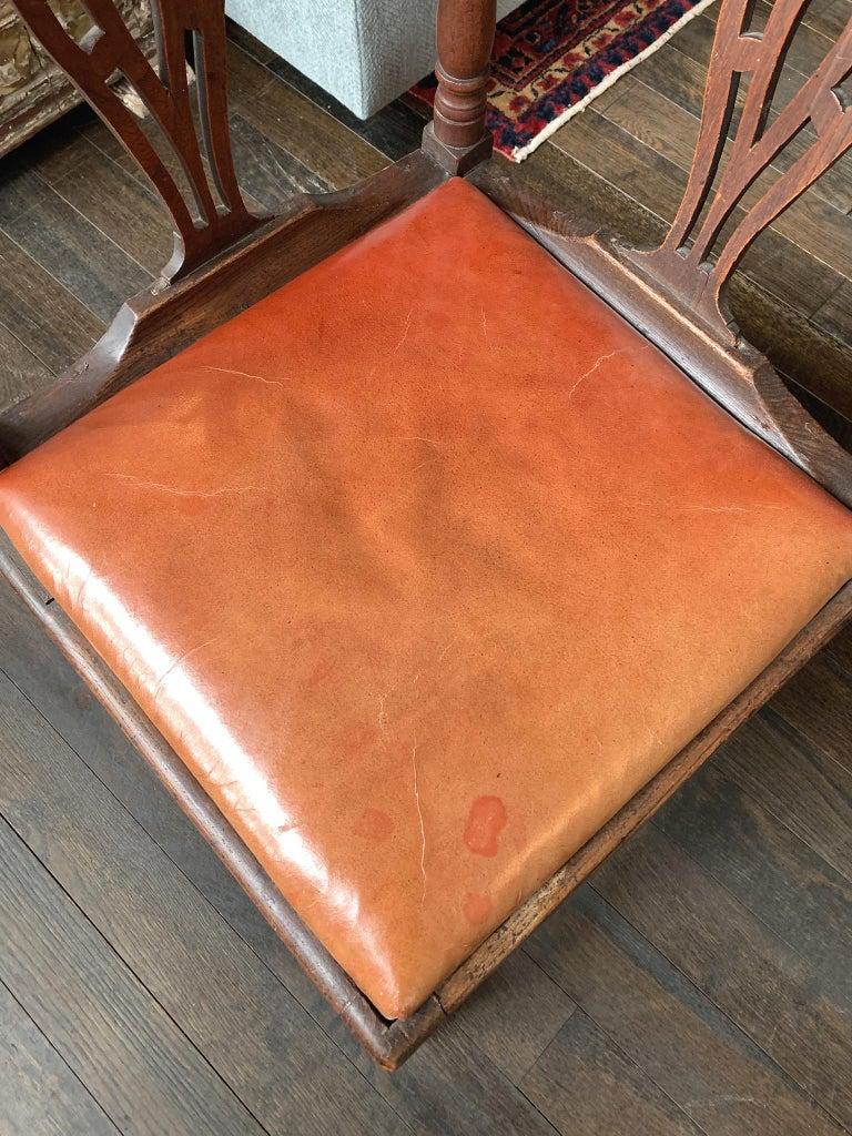 Leather 18th Century Georgian Corner Chair