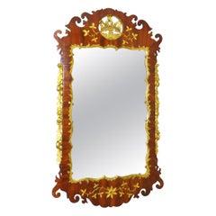 18th Century Georgian English Mahogany And Gilt Mirror