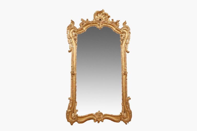 18th Century Georgian Giltwood Pier Mirror In Good Condition For Sale In Dublin 8, IE