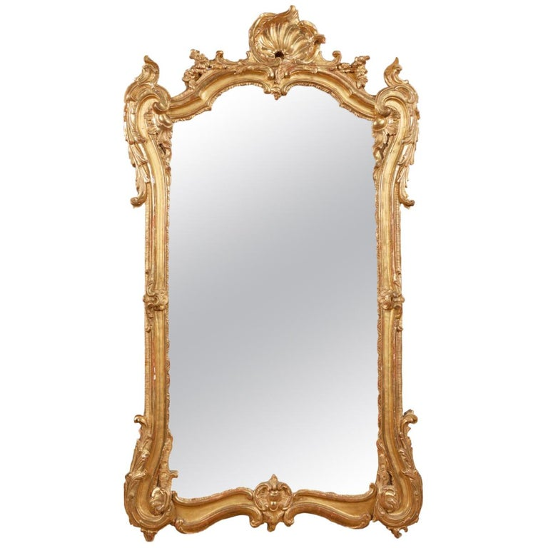 18th Century Georgian Giltwood Pier Mirror For Sale