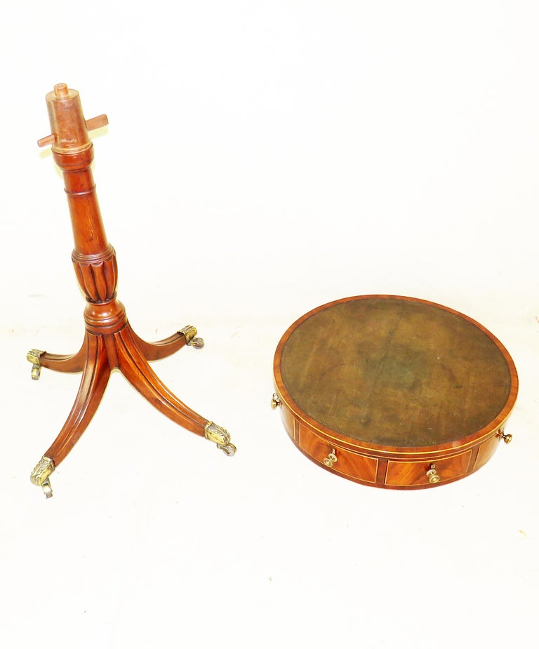18th Century Georgian Mahogany Drum Type Occasional Table 2