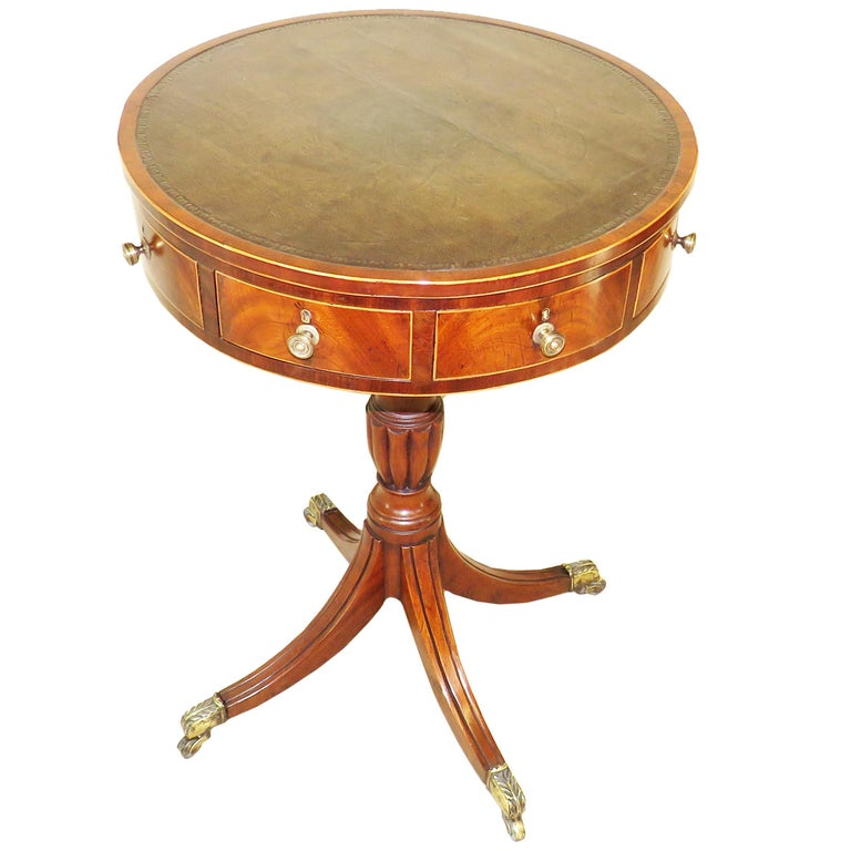 18th Century Georgian Mahogany Drum Type Occasional Table