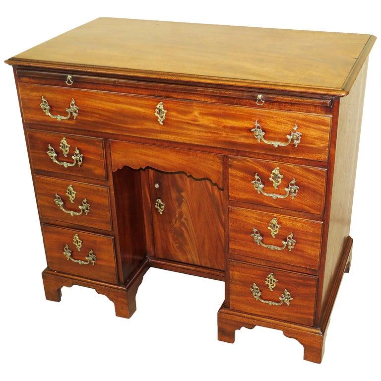 18th Century Georgian Mahogany Kneehole Desk